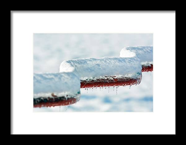 Ice Framed Print featuring the photograph Ice And Snow-5505 by Steve Somerville