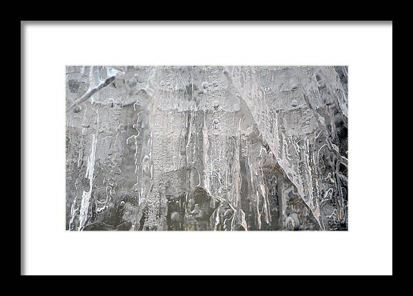 Ice Framed Print featuring the photograph Ice by Brent Dolliver