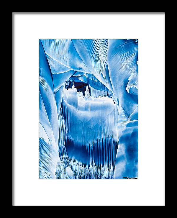 Ice Framed Print featuring the painting Ice Castles Painting by Tisha Art