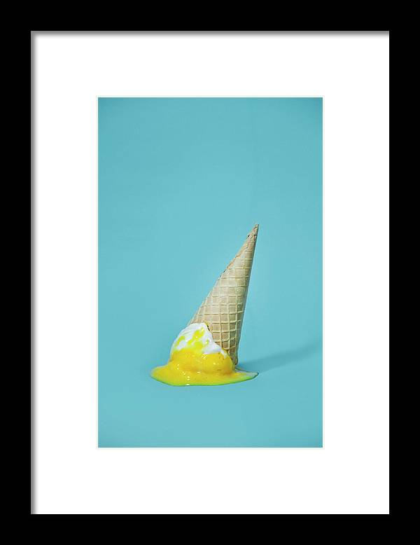 Melting Framed Print featuring the photograph Ice Cream by All Kind Of Things In Photo