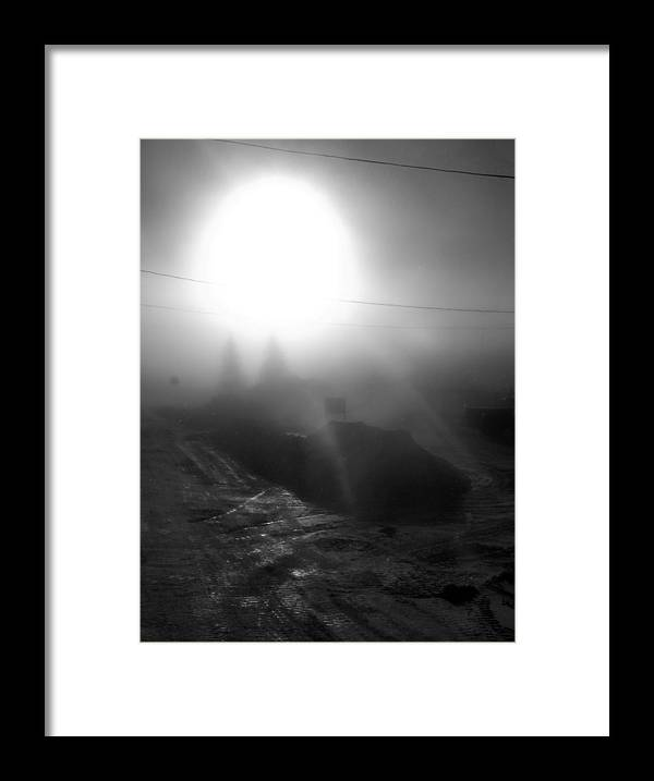 Framed Print featuring the photograph Ice Fog by Matthew Barton