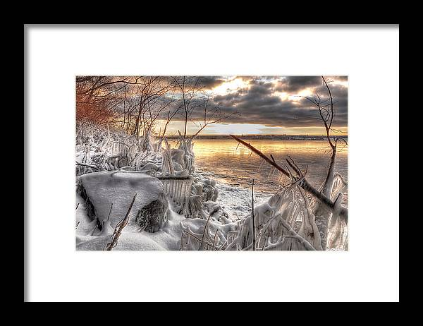 Hdr Framed Print featuring the photograph Ice Forms by Brian Fisher