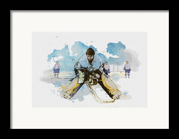 Sports Framed Print featuring the painting Ice Hockey by Corporate Art Task Force