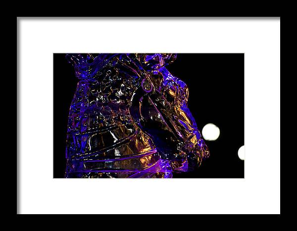 Massachusetts Framed Print featuring the photograph Ice Horse by Mark Dornblaser