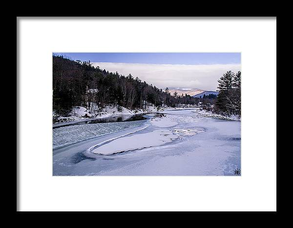 River Framed Print featuring the photograph Ice River by Christine Nunes