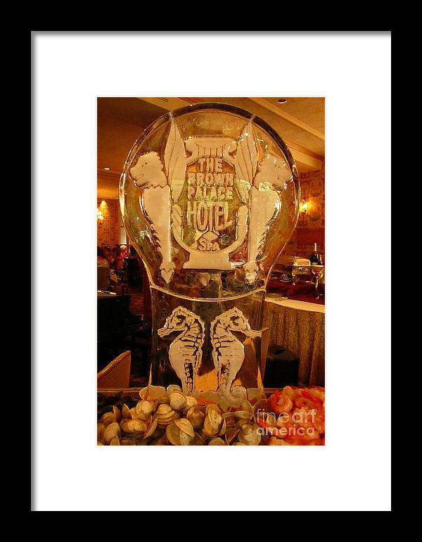 Ice Sculpture Art Framed Print featuring the photograph Ice Sculpture At Ellyngtons Sunday Brunch by John Malone