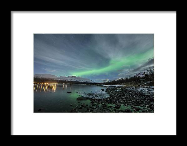Northern Lights Framed Print featuring the photograph Ice Seal by Tom Kiil