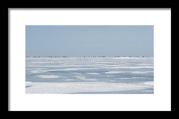 Framed Print featuring the photograph Ice Shack Overload by Matthew Barton