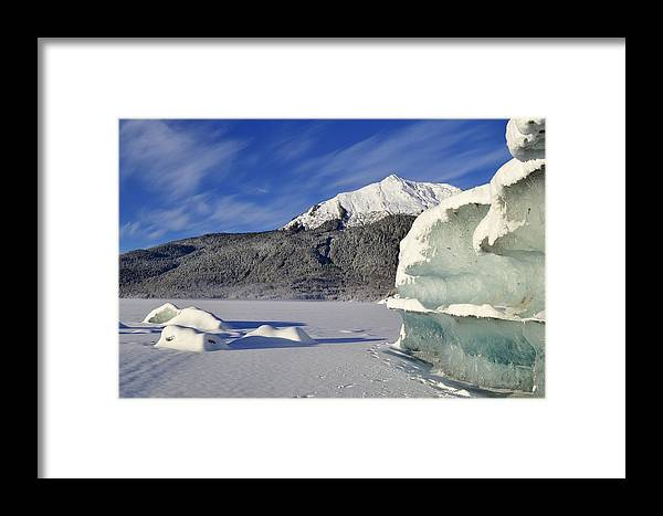 Iceberg Framed Print featuring the photograph Iceberg And Mount Mcginnis by Cathy Mahnke
