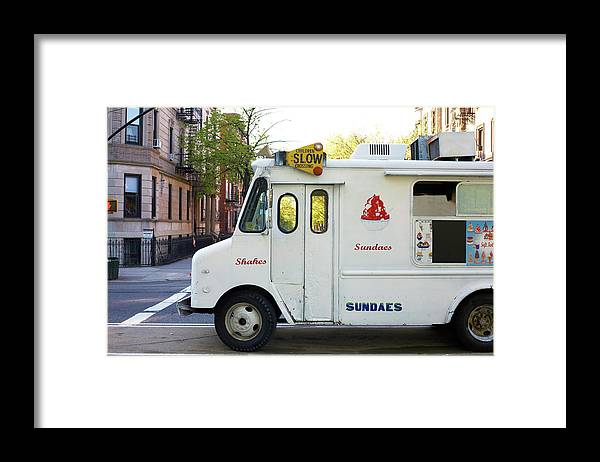 Retail Framed Print featuring the photograph Icecream Truck On City Street by Jason Todd