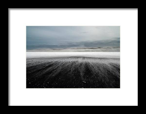 Landscape Framed Print featuring the photograph Iceland Vik by Ronny Olsson