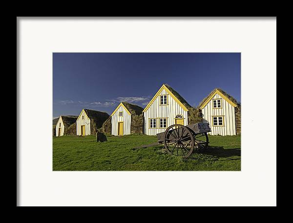 Home Framed Print featuring the photograph Icelandic Turf Houses by Claudio Bacinello