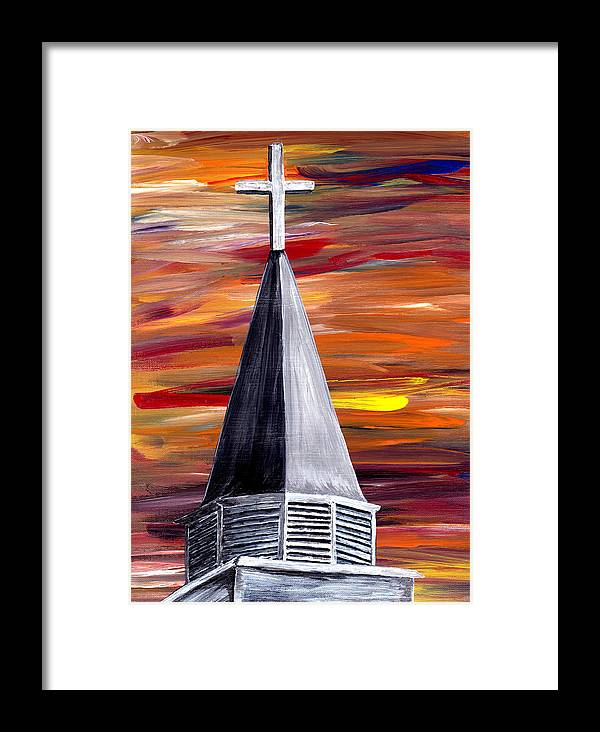 Mark Moore Framed Print featuring the painting Ich Glaube by Mark Moore