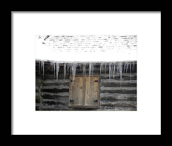 Winter Framed Print featuring the photograph Icicles by Teresa Schomig