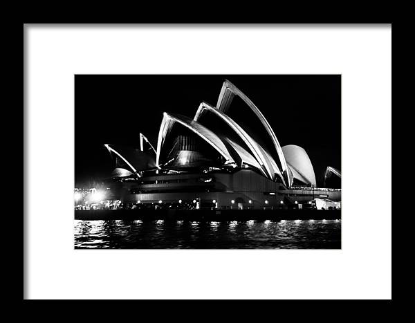 Sydney Opera House Framed Print featuring the photograph Iconic Sydney Opera House by Carley Payne