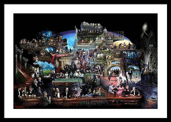 Icones Of History And Entertainment Framed Print featuring the mixed media Icons Of History And Entertainment by Ylli Haruni