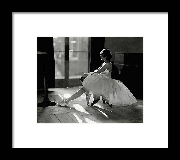 Dance Framed Print featuring the photograph Ida Rubinstein Wearing A Tutu by Phyllis Abbe