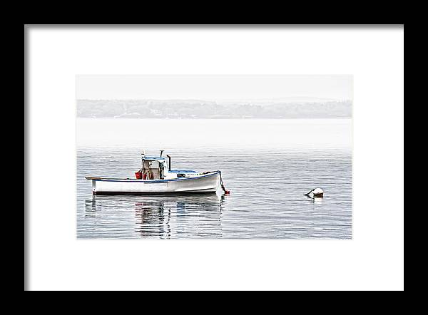 Boat Framed Print featuring the photograph Idle Mooring by Richard Bean