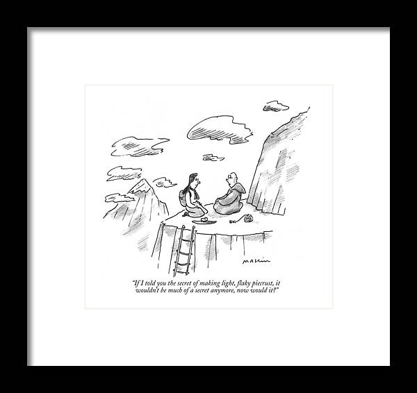 Dining Framed Print featuring the drawing If I Told You The Secret Of Making Light by Michael Maslin