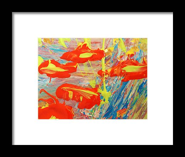 Original Framed Print featuring the painting If Men Had Wings Women Would Fly by Artist Ai