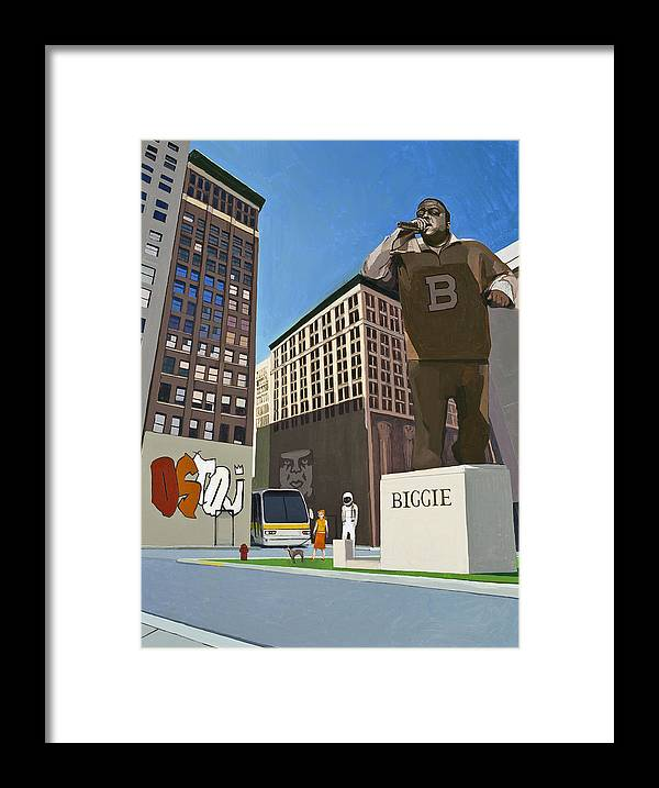 Astronaut Framed Print featuring the painting If You Dont Know Now You Know by Scott Listfield