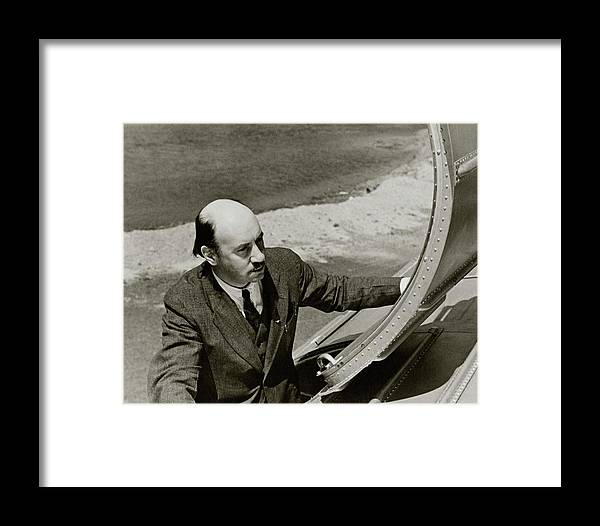 Igor Sikorsky On An Airplane Framed Print by Lusha Nelson