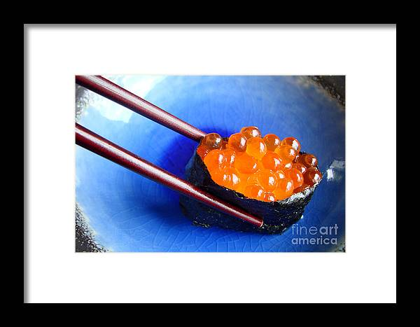 Sushi Framed Print featuring the photograph Ikura by Delphimages Photo Creations
