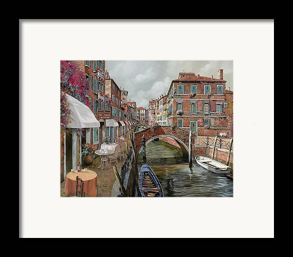 Venice Framed Print featuring the painting Il Fosso Ombroso by Guido Borelli
