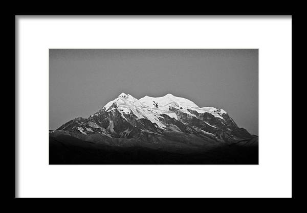 Illimani Framed Print featuring the photograph Illimani by Paolo Mariaca