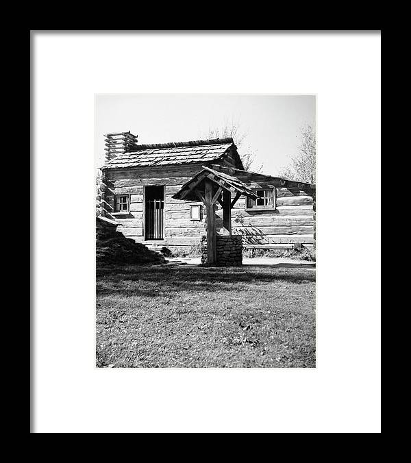 1830 Framed Print featuring the photograph Illinois Log Cabin, C1830 by Granger