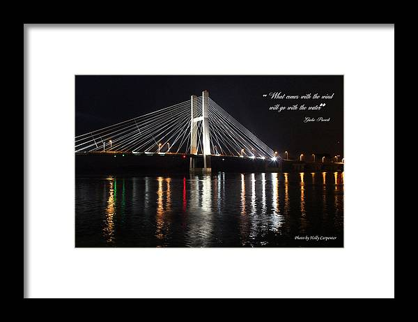 Bridge Framed Print featuring the photograph Illuminated Night by Holly Carpenter