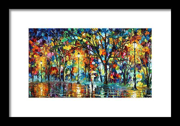 Park Framed Print featuring the painting Illusion by Leonid Afremov