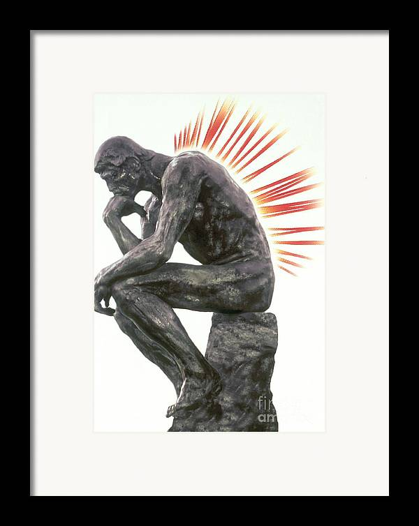 Back Pain Framed Print featuring the photograph Illustration Of Back Pain by Dennis Potokar