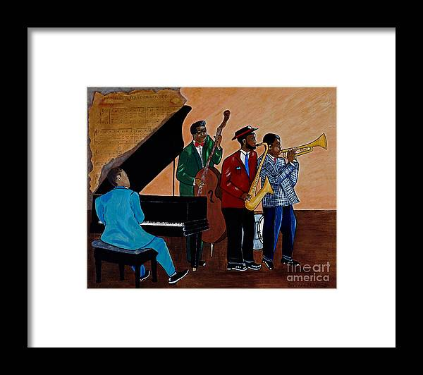 Jazz Framed Print featuring the painting Im Moving On by Barbara McMahon