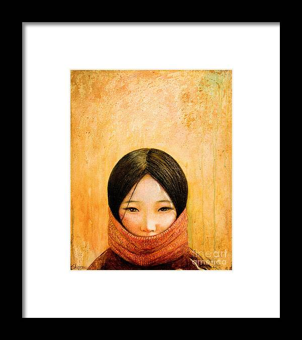 Tibet Framed Print featuring the painting Image of Tibet by Shijun Munns