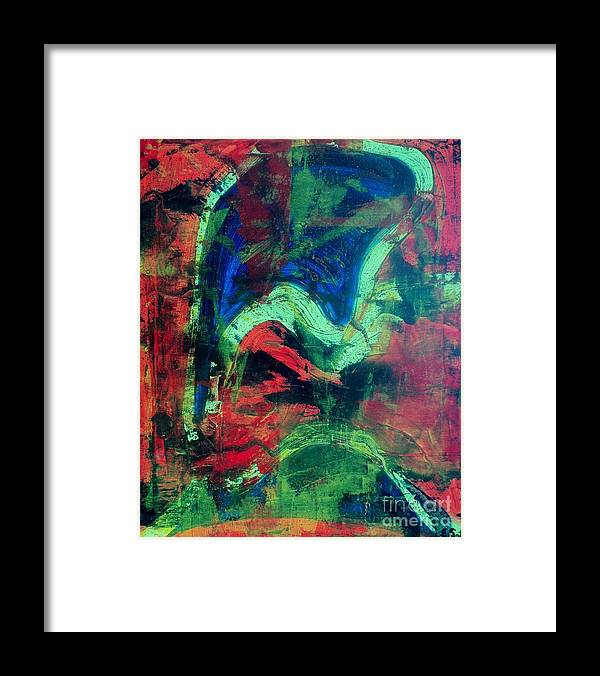 Acrylic Framed Print featuring the painting Imagination by Evelyn SPATZ