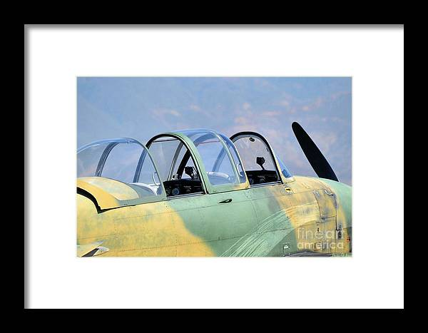 War Plane Framed Print featuring the photograph Imagine What Was It Like by Cindy Rohde