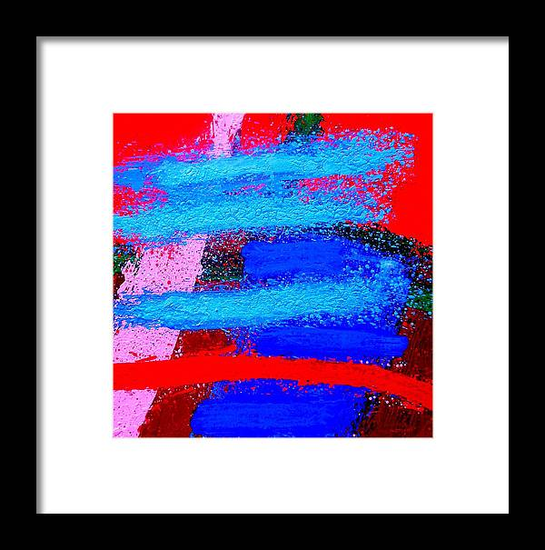 Abstract Framed Print featuring the painting Imma  Iv by John Nolan