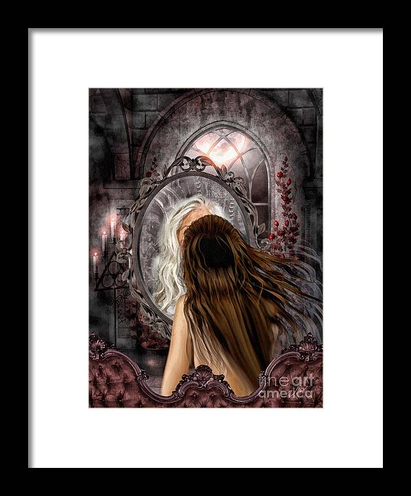 Immortality Framed Print featuring the painting Immortality by Mo T
