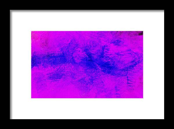 Abstract Framed Print featuring the painting Impassive Blue Pink by L J Smith