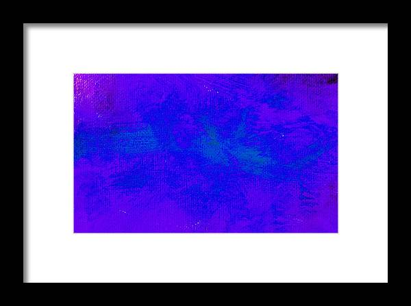 Abstract Framed Print featuring the painting Impassive Blue Purple by L J Smith