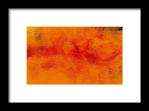 Abstract Framed Print featuring the painting Impassive Golden by L J Smith