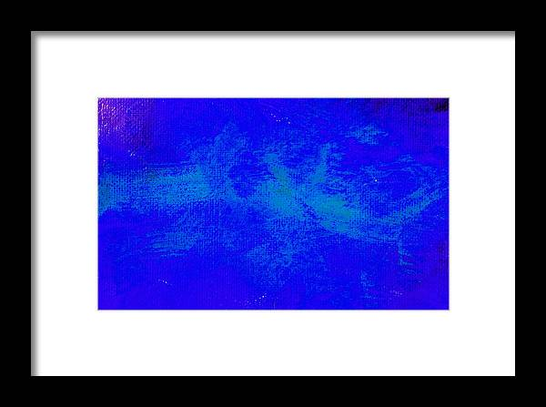 Abstract Framed Print featuring the painting Impassive Midnight Blue by L J Smith