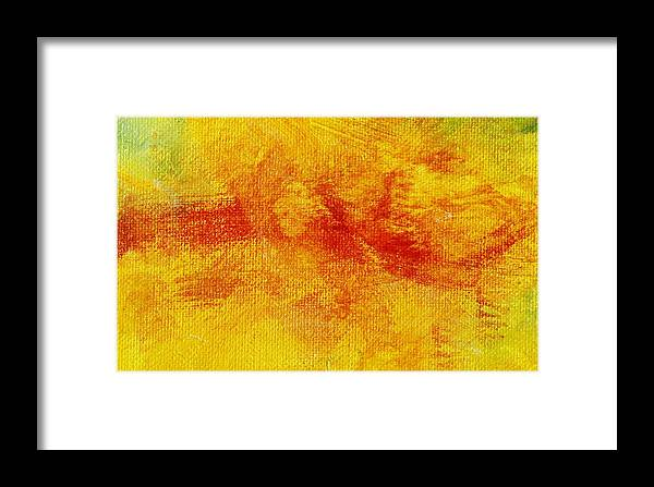 Abstract Framed Print featuring the painting Impassive Natural by L J Smith