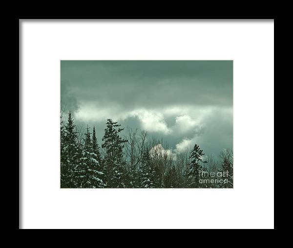 Sky Framed Print featuring the photograph Impending Storm by Brenda Ketch