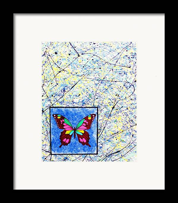 Abstract Framed Print featuring the painting Imperfect I by Micah Guenther
