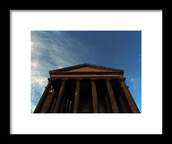 Scottish Church Framed Print featuring the photograph Imposing And Enigmatic Structure by Baato