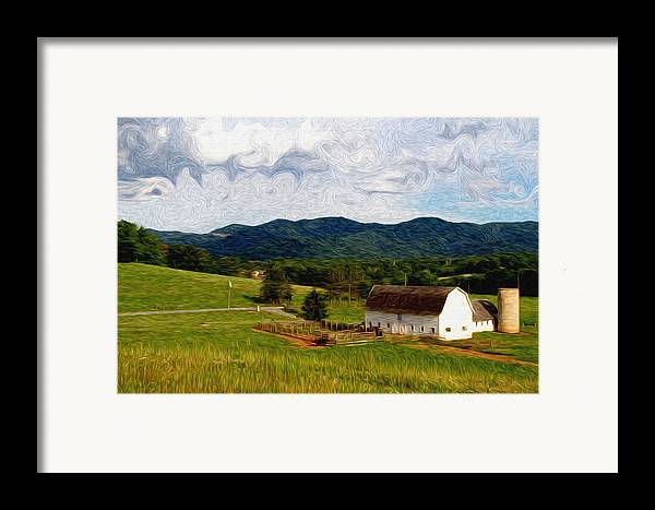 Farm Framed Print featuring the painting Impressionist Farming by John Haldane