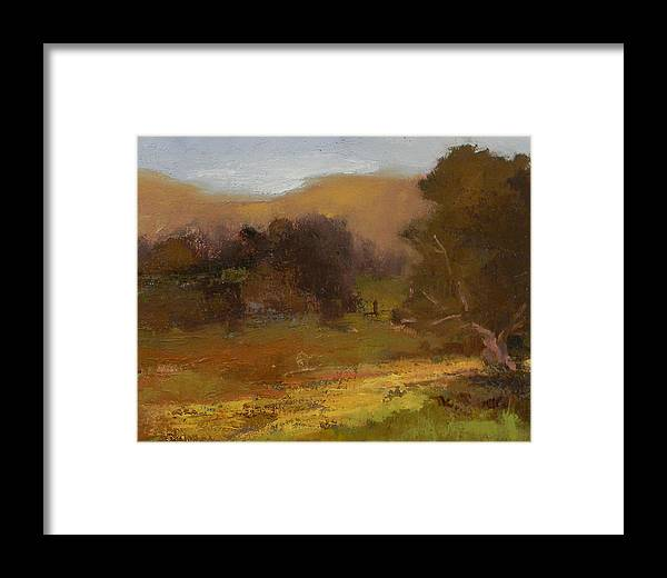 Art Framed Print featuring the painting Impressions Of Portola Pastures by Fiorenza Gorini