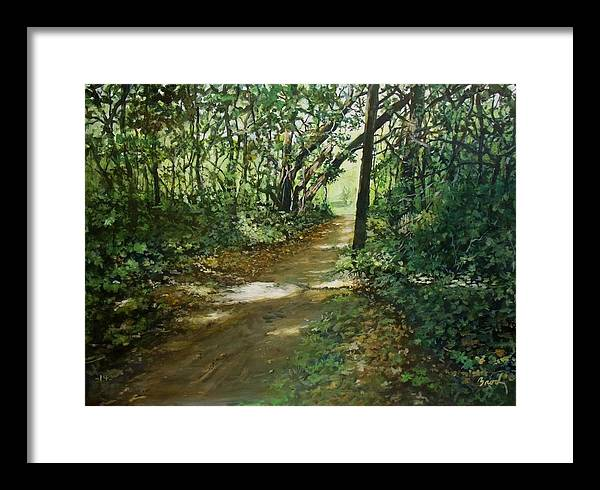 Landscape Framed Print featuring the painting In And Out Of The Shadows by William Brody